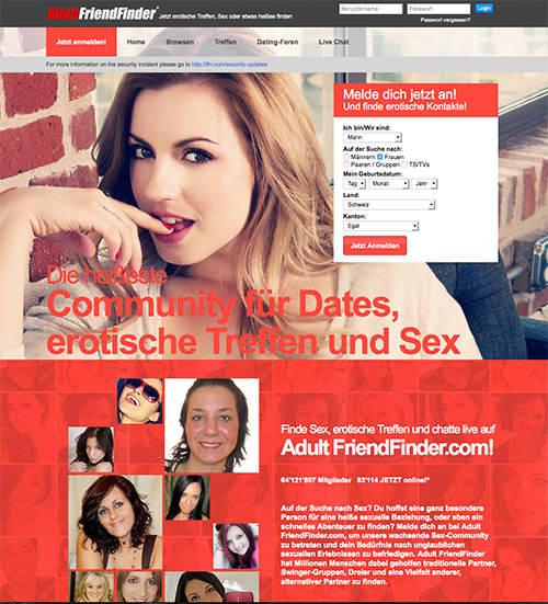 AdultFriendFinder ist die weltweit größte Sexdate Seite
