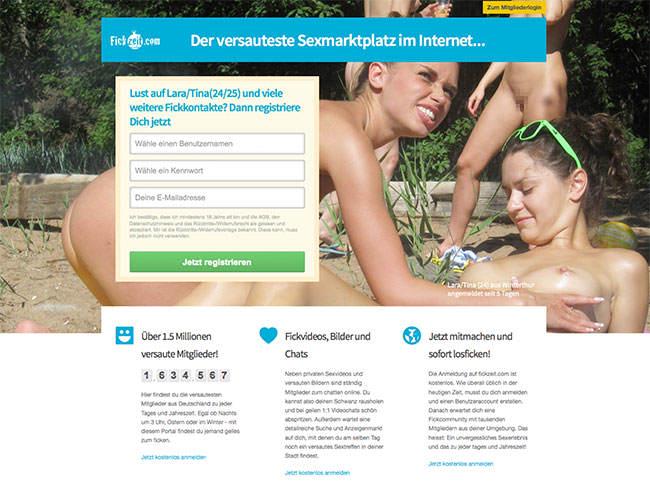 Fickzeit-com-Startseite