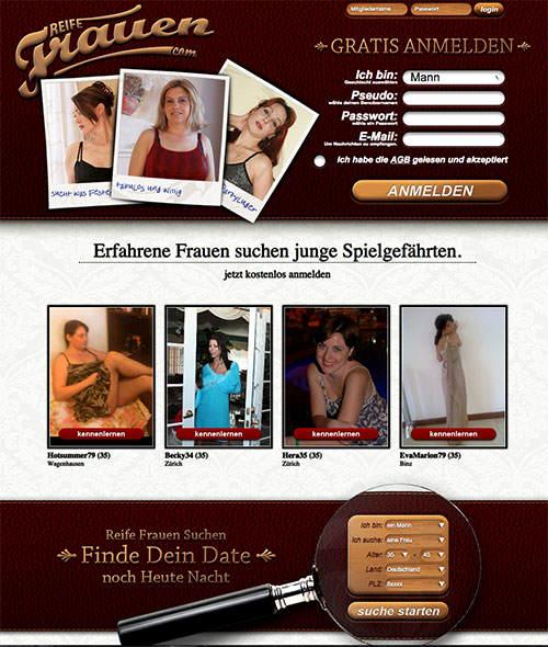 Die Sexdate Seite ReifeFrauen.com bietet Kontakt zu reifen Frauen und MILFs