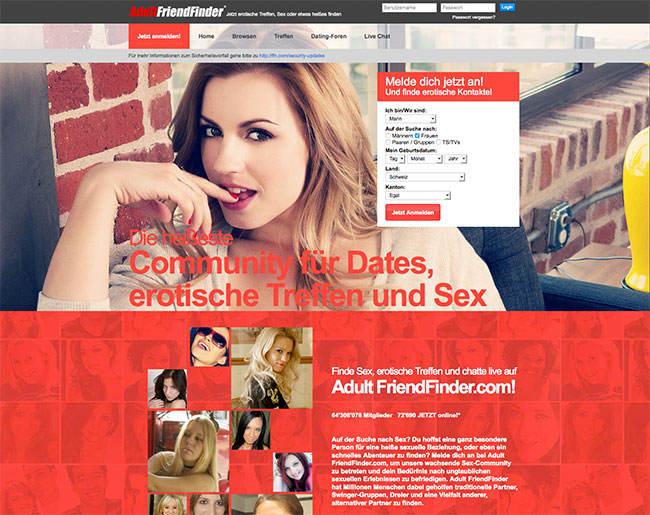 Adult Friend Finder - Swinger, Sex-Chat und Sex-Dating