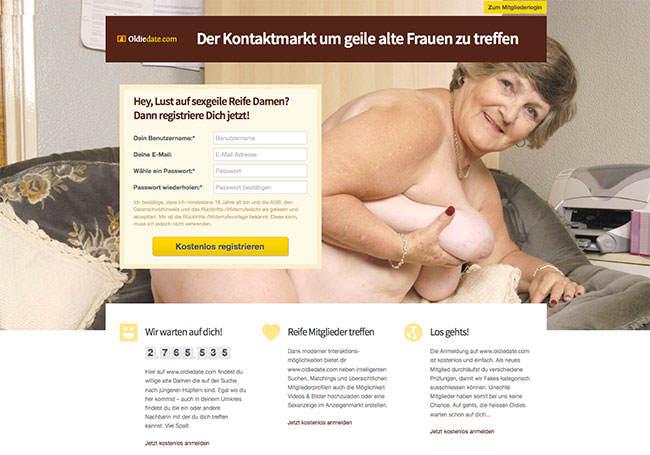 Reife Frauen für Sex findet man auf Oldiedate.com
