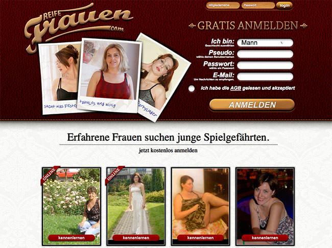 Die Startseite von ReifeFrauen.com